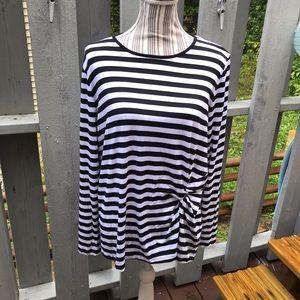 Michael Kors Striped Top  Size XL